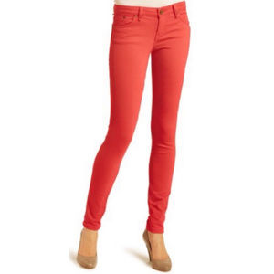 SANCTUARY Coral Red Skinny Jeans Size 28